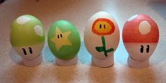 Mario themed Easter eggs