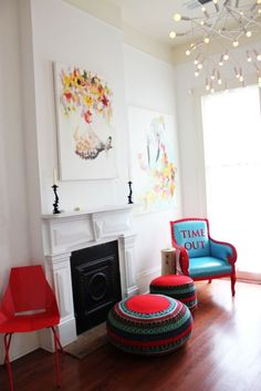 i want that chair!!  from fair folks and a goat bed & breakfast in new orleans found via sfgirlbybay