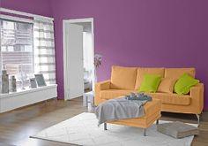 Farbgestaltung Für Ein Wohnzimmer In Den Wandfarben:  Mild01.007.03/Papaya/Fresh