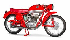 "Stunning 1954 MV Augusta ""Disco Volante"", named after its flying saucer-shaped fuel tank."