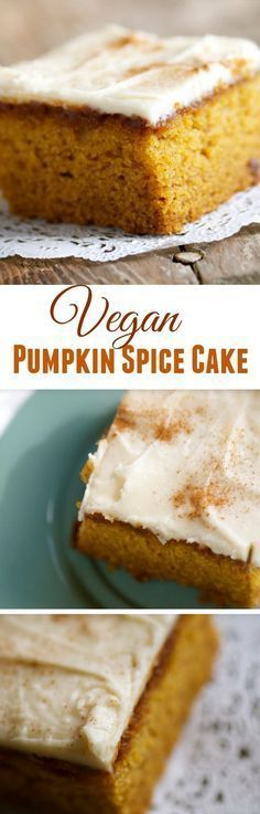 Vegan Pumpkin Spice Cake recipe for your fall festivities. What better way to spend Thanksgiving Dinner by arriving with this delicious dessert to share with family and friends!