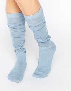 ASOS | ASOS Glitter Slouch Socks