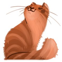 "dailycatdoodles: "" 019: Red Tabby Just a quick one today, not feeling well :( """