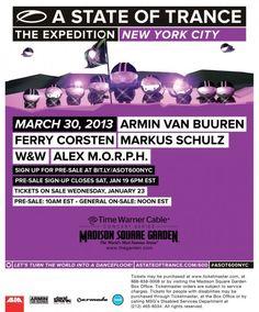 #edm #asot600 #trance #avb #arminvanbuuren #nyc #madisonsqauregarden #msg #markusschulz #gdjb #alexmorph #w #lineup #needtickets #whatareyouwaitingfor #2013 #expedition #theexpedition #djquickflash