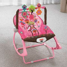 Fisher-Price Rocker Owl | Infant to Toddler Fisher Price Pink Owl Rocker Bouncer Chair Seat ...
