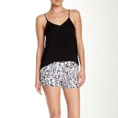 Philosophy Black and White Dress Shorts Brand new Philosophy dress shorts in a black and white abstract print. Breathable thin material; 100% polyester. Brand new with tags. Size 8. Philosophy Shorts