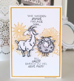 Hand Made Greeting Cards, Making Greeting Cards, Birthday Greeting Cards, Birthday Greetings, Stampinup, Animal Cards, Stampin Up Cards, Scrapbook Pages, Goats