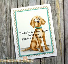 Prairie Paper & Ink: Tim Holtz Crazy Dogs Take 2 | Clean Color Real Brush Markers | Color Throwdown #404