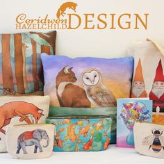 Making #illustrated #bags and #homewares for the Made in #Bristol #Gift #Fair this Saturday! #MIBGF #colstonhall Ceridwen Hazelchild Design