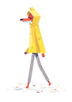Walking Fox by Benjamin Flouw, via Behance