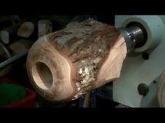 ▶ Tournage sur bois, déco de Noël N°1 Woodturning, decorative Christmas No. 1 - YouTube
