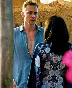 Tom with his<3 shirt unbuttoned <3 in The Night Manager