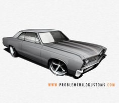 drawing classic muscle cars
