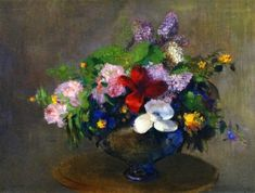 The Black Bowl (c. 1905) - Odilon Redon