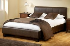 Bedworld Discount Vienna Faux Leather Bed Frame Double 135cm The Vienna leather bed frame is a brown faux leather bed that will look excellent in any room. The build quality on this leather bed is exceptional, at the same time it is one of the best value leathe http://www.comparestoreprices.co.uk/bedroom-furniture/bedworld-discount-vienna-faux-leather-bed-frame-double-135cm.asp