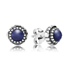 A subtle 'Something Blue' these little studs are perfect for the big day...and every day after that!