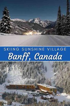 Rated the Top Ski Resort in North America by USA Today (December, 2020), Sunshine Village Ski Resort is easily accessible to visitors in Canada's Banff National Park. As a bonus, it sports… More Usa Travel, Travel Tips, Luxury Travel, Travel Ideas, America And Canada, North America, Banff National Park, National Parks, Sunshine Village