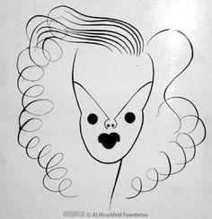Judy Garland by Al Hirschfield
