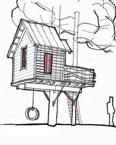 how to draw a treehouse step by step. sky barn is a tree house designed by channing glover for his son and how to draw treehouse step
