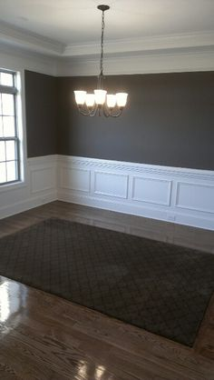Wool Carpet Inlay In Dining Room