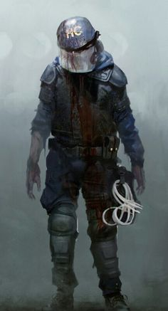 Zombi Headed to Current-Gen Consoles and PCs on New Screens and Trailer Released Post Apocalypse, Armor Concept, Concept Art, Post Apocalyptic Art, Zombie Art, Horror Art, Resident Evil, Character Art, Fantasy Art