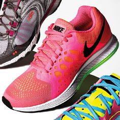 Get Your Kicks With These Sweet Sneakers | For Running: Air bags in the heel absorb impact and propel you forward. Air Zoom Pegasus 31, $100; Nike.com