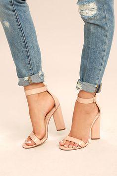 451ce442836 Kamali Nude Ankle Strap Heels 2 Cute Heels