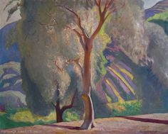 """Rockwell Kent Paintings, Plattsburgh State Art Museum, State University of New York """"Olive Trees, France"""""""