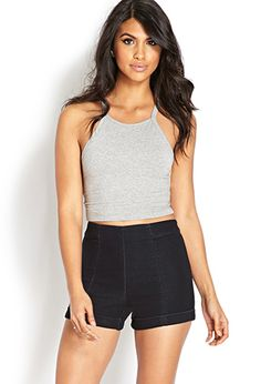 Cuffed High-Waisted Shorts | FOREVER21 - 2000107244