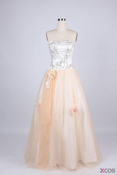 Simple Dress Long Quinceanera Dresses for 2015, A-line Strapless Beading Quinceanera Dresses, Prom Dresses TUQD-7077