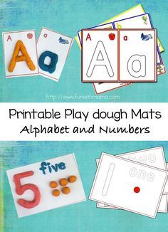 Printable Play dough Mats are wonderful for teaching toddlers and preschoolers early math skills through counting as well as alphabet letters. Plus Playdoh play is so much fun!