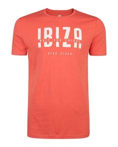 HEREN IBIZA PRINT T-SHIRT Rood