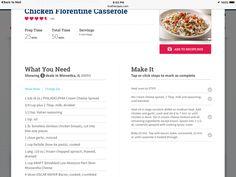 Chicken floritine casserole