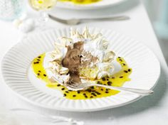 chocolate and passion fruit baked alaska