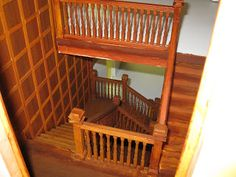 I had a very specific idea about how I wanted the staircase to look. In order to assemble it and be able to paint in comfortably, I glued th...