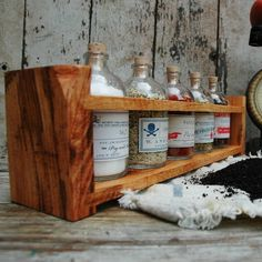 Apothecary Spice/Tea Rack Reclaimed hard wood drug by PegandAwl, $100.00