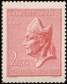 Bélyeg: Sv.Vojtěch (Csehszlovákia) (St. Adalbert halálának 950. évfordulója) Mi:CS 516,Sn:CS 327,Yt:CS 444,AFA:CS 364,POF:CS 451