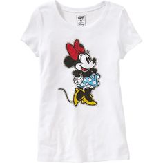 Old Navy Womens Disney Minnie Mouse Tees ($15) ❤ liked on Polyvore