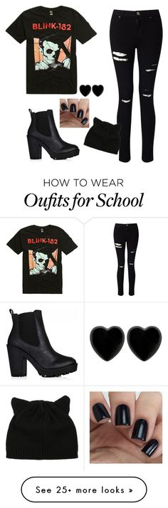 """Middle School Emo"" by jayceepanda on Polyvore featuring Miss Selfridge and Dollydagger"