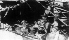 Infantrymen and dragoons from the 1st Armored Division during the Battle of Moerdijk.