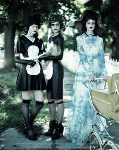 Disturbia: #AnoukHagemeijer  #LenaHardt #IreneHiemstra  #ClaraNergardh #LarissaHofmann #JamilyWernkeMeurer & #LinnArvidsson by #JeffBark for #Dazed & #Confused November 2013 #fashion #editorial