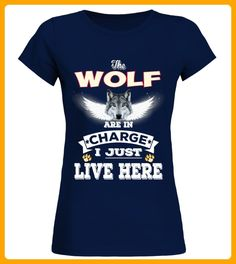 Wolf Is In Charge Here - Wolf shirts (*Partner-Link)