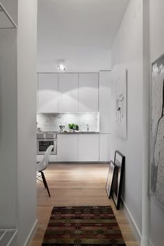 Scandinavian Design: Cozy One Bedroom Apartment in Stockholm Interior Architecture Design, Home Building Design, Simple Kitchen Design, Home, 1 Bedroom Apartment, Interior, One Bedroom Apartment, Kitchen Interior, Small Apartment Interior