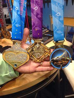 Princess Half Marathon and Glass Slipper Challenge MEDALS