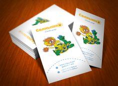 business card for children's clothes shop