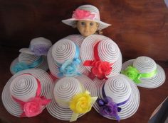 Doll Tea Party Hats Fit American Girl 18