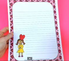 FREE Valentine's Day February Stationery by Created by MrHughes - This set of four primary grade writing stationery is PERFECT for your writing centers, love notes to parents/grandparents, notes home, or class books.