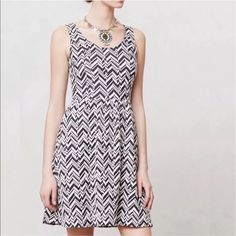 Maeve Caldera Chevron Print Dress