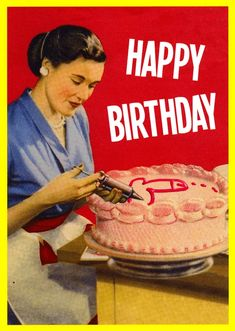 funny happy birthday for women / funny happy birthday meme Happy Birthday Vintage, Funny Happy Birthday Wishes, Happy Birthday Greeting Card, Rude Birthday Cards, Humor Birthday, Offensive Birthday Cards, Happy Birthday Woman, Birthday Humorous, Birthday Sayings