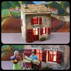 Santons Atelier de Fanny-Santons et Crèches de Noël-Santons de Provence - Maison de village n°6 - 54.00 EUR